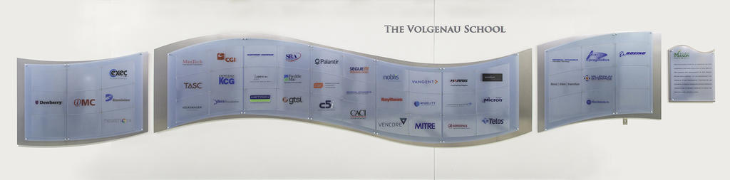 List of Volgenau corporate partners on wall art